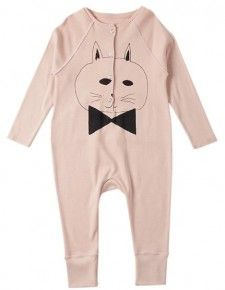 Bobo Choses Jumpsuit with Cat Print