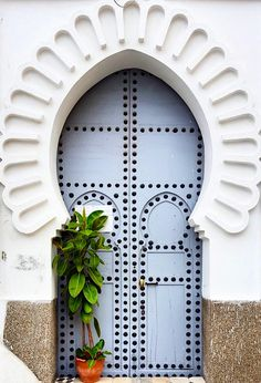 Bella says, every door has a story. Tétouan, Morocco