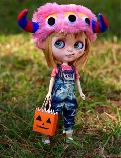 The Trick or Treater Hannah Custom Blythe Doll by por SweetCrate