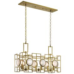 Natural Brass Kichler Chandeliers