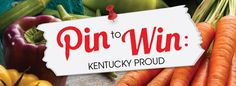 Join our Pin to Win: Kentucky Proud contest and win tickets to the Incredible Food Show at Rupp Arena in Lexington KY on October 27, 9 a.m.-6 p.m.  Follow the pin link for entry details!