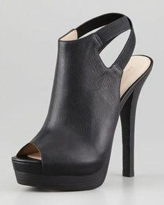 Pelle Moda - Crissy Slingback Leather Platform Booti | Hukkster