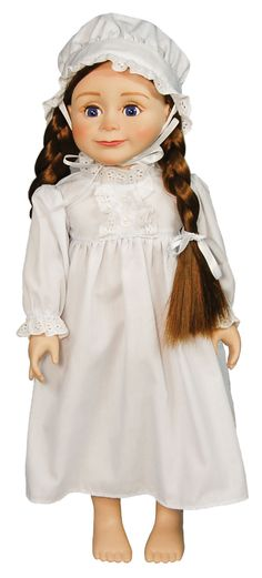 """Officially Licensed Little House on the Prairie® 18"""" Laura Ingalls Doll & Accessories. AVAILABLE NOW FOR PRE-ORDER!"""