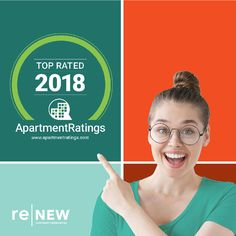 Heading into the end of the week with a 2018 Top Rated #ApartmentRatings award! 👍  Thank you to our wonderful residents for sharing their ReNew experience. Also, shout-out to the hard-working Trinity Team Members who take pride in providing exceptional customer service. #IAmRenewed #CommunityRedefined