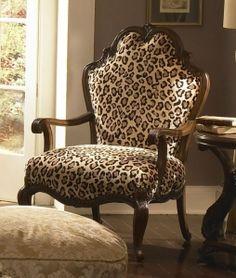 Leopard wood chair...