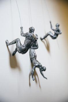 Climbing Gifts For Men Man Wall Sculpture Accent Art Iron Figures In Silver Copper Bronze Wall Sculptures, Sculpture Art, Sculpture Ideas, Fancy Store, Accent Wall Decor, Accent Walls, Wall Murals, Wall Art, Mural Art