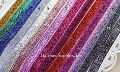 Glitter Elastic 5/8 inch 5 yd Lot  YOU PICK by HairbowSuppliesEtc