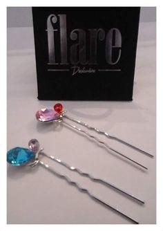 Pinches Cristal Swarovski plata 925 aleación de platino $14.990