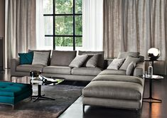 Living room sofa minotti 66 ideas for 2019 Fresh Living Room, Retro Living Rooms, Cozy Living Rooms, Living Room Grey, Small Living, Living Area, Living Room Sofa Design, Living Room Interior, Living Room Furniture