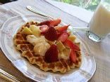 This is a very fast and easy to cook, healthy and nutritious waffle for breakfast, lunch or brunch. It is only one serving but you will not need seconds, believe me, it will make you full especially when served with Greek yogurt, honey and fresh fruits and berries. I recommend using fresh citrus zest as it is a natural, powerful and fresh flavor ingredient. And if you need several waffles just double the ingredients, triple, quadruple etc. :)