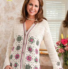 Fabulous Crochet a Little Black Crochet Dress Ideas. Georgeous Crochet a Little Black Crochet Dress Ideas. Black Crochet Dress, Crochet Coat, Crochet Cardigan Pattern, Crochet Jacket, Crochet Blouse, Filet Crochet, Crochet Clothes, Crochet Patterns, Crochet Fashion