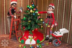Elf Ideas | A Little of This That Lights, ornaments and garland galore. The elves are decorating from ceiling to floor. They are helping each other with happiness and glee. They are helping each other decorate their tree. The time has come; soon Santa will make his way, so the elves are getting ready for a Merry Christmas Day.