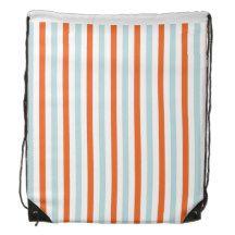 stripe pattern backpack