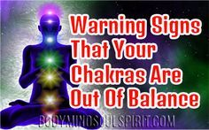 Warning Signs dat je chakra's uit balans