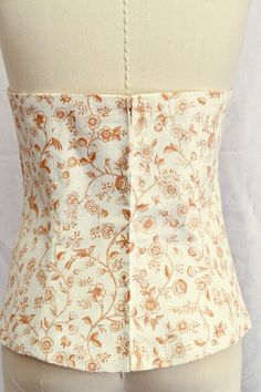 Cotton Couture Bodice in a Vintage Floral Print by Mooshi - Handmade with Love
