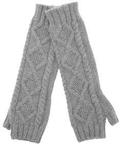 Gray cashmere wrist warmers, Johnstons