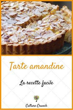 Tarte amandine : la recette facile - Expolore the best and the special ideas about Cocktail recipes Tart Recipes, Snack Recipes, Easy Smoothie Recipes, Healthy Smoothie, Keto Crockpot Recipes, Cinnamon Cream Cheeses, Pumpkin Spice Cupcakes, Fall Desserts, Ice Cream Recipes