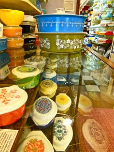 There's a Pyrex Museum in Bremerton, WA. I might have to check that out!  The museum has a Facebook page too.