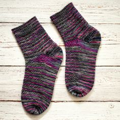 Hand Knitted ankle socks - Variegated colours - UK 7-9 £25.00