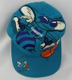 Charlotte Hornets Vintage Snapback The Game Big Logo Hat NBA Rare Cap Starter Charlotte Hornets, Nfl Caps, New Era Fitted, Snapback Hats, Nba, Games, Sports, Basketball, Vintage