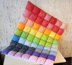 Купить Зефирное детское одеяло - комбинированный, радужный, радуга, одеяло, одеяло детское, одеяло для новорожденного