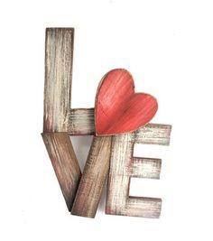 Valentine's Day Wood Wall Decor-Love