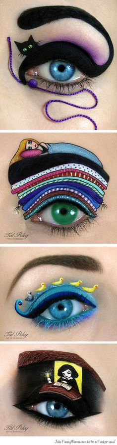 Imaginative makeup art...-Join FunnyMama to be a Funker (Fun Maker)now!