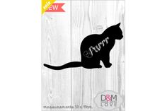 Cat chalkboard wall mounted by D&M made with love Pty Ltd