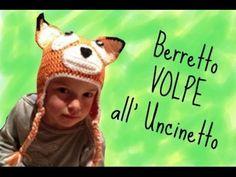 """Berretto """"volpe"""" all'Uncinetto - YouTube"""