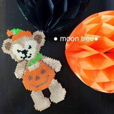【期間限定】ハロウィンダッフィーかぼちゃ●ハンドメイドアイロンビーズ