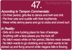 Period Problem #47 somehow I imagine this in Kat denning's Max's voice from 2 broke girls...