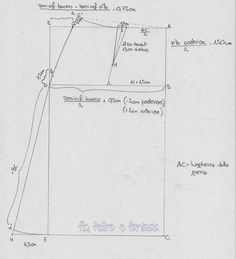 #05 - Modello base della gonna svasata   Filo, feltro e fantasia
