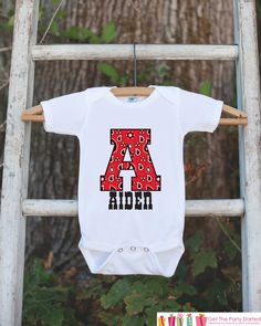 Western Outfit - Personalized Bodysuit For Baby Boy - Red Paisley Initial Shirt with Baby's Name - Cowboy Outfit - Custom Birthday Shirt