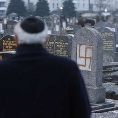 History has shown that wherever anti-Semitism has gone unchecked, the persecution of others has been present or not far behind. Defeating anti-Semitism must be a cause of great importance not only for Jews, but for all people who value humanity and justice. (photo: Defaced tombstones in the Jewish cemetery of Cronenbourg near Strasbourg, France, January 2010. Reuters)