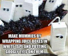 Mummy Juice Boxes | 31 Last-Minute Halloween Hacks