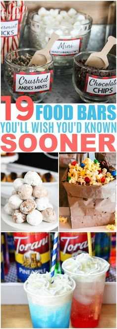 These 19 DIY Food Bar Ideas Are PERFECT For Your Next Party! I love all the ideas for appetizers, main courses, desserts and snacks! diy food 23 Stunning Party Food Bars for Your Next Big Occasion Party Food Bars, Snacks Für Party, Appetizers For Party, Diy Party Food, Party Desserts, Food For Parties, Party Food For Kids, Simple Party Food, Party Food Ideas For Adults Entertaining