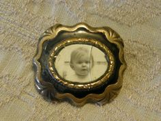 Antique Victorian hollow gold and enamel mourning by lindysloops, $42.00