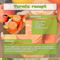 Almás gyömbéres turmix recept #turmix #recept Cantaloupe, Smoothies, Minden, Fruit, Drinks, Breakfast, Healthy, Skinny, Food