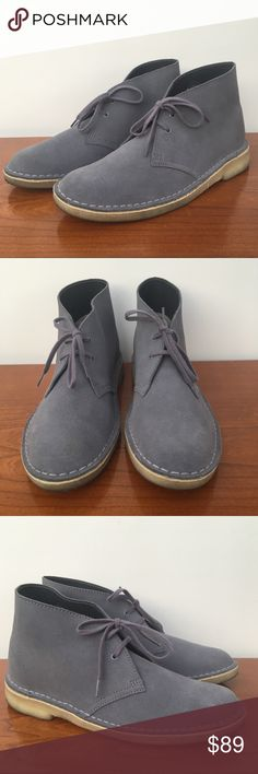 Clark's Charles Stead women Desert Boots Gray US9 Shows minimal wear. Practically new. Special Edition. Trusted Clark's quality and comfort. Clarks Shoes Ankle Boots & Booties