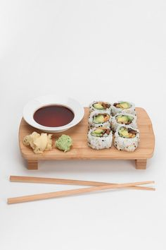 Bamboo Sushi Set #urbanoutfitters // I would never use this and yet I want it so bad