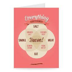 #VennDiagram #Bacon #WildishDesigns #StephenWildish #Design #Creative #Art http://www.stareditions.com/Gallery/0/Artist/Stephen+Wildish?utm_source=Pinterest&utm_medium=Board&utm_campaign=Wildish