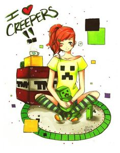Minecraft creeper girl