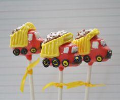 Dump Truck Cake pops