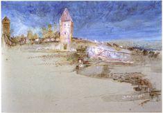The Walls of Lucerne I 1866 I John Ruskin