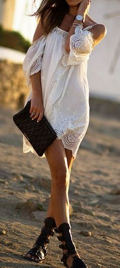 Women's fashion boho summer look