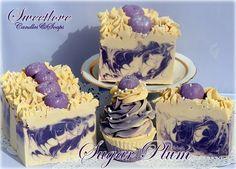 Sugar Plum Luxury Soap-plumberry, sugar plum, cupcake soap, berry soap, plum soap,fake food, artisan soap, handmade soap, holiday soap, christmas, purple soap