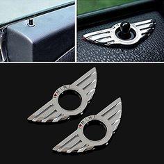 9 MOON® Car Metal Door Lock decoration ring for BMW Mini Cooper Auto Accessories 2PCS/Set 9 MOON