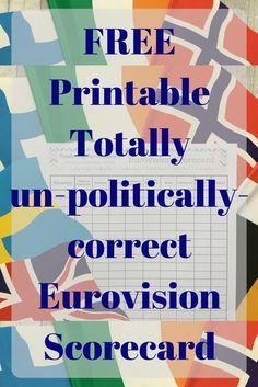 FREE Eurovision Printable Scorecard