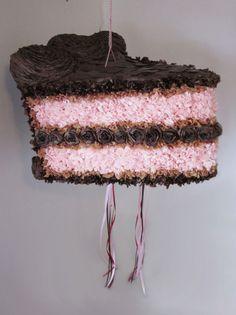 A chocolate cake piñatas? So great for birthday parties!
