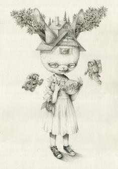 Dibujos de Roby Dwi Antono    Su nombre es Roby Dwi Antono nacido en 1990. Trabaja como artista, ilustrador y diseñador gráfico en Yogyakarta, Indonesia.     Su obra está muy influenciada por maestros como Mark Ryden y Marion Peck.    Por Roby Dwi Antono